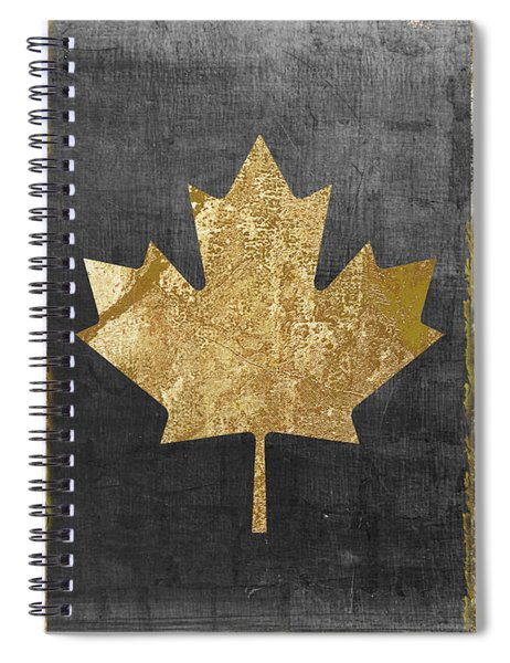 Glamour Gold Canada Flag Spiral Notebook