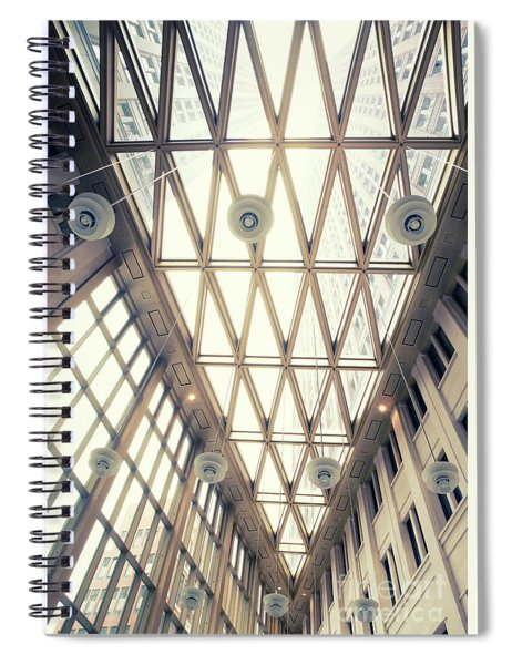 glass ceiling in hall of  new State office  Spiral Notebook