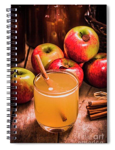 Glass Of Fresh Apple Cider Spiral Notebook
