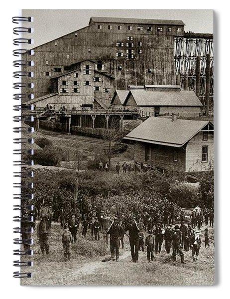 Glen Lyon Pa Susquehanna Coal Co Breaker Late 1800s Spiral Notebook