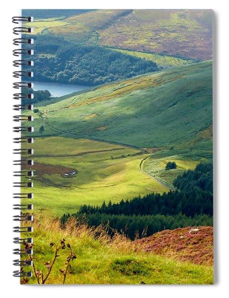Glendalough Valley, County Wicklow Spiral Notebook