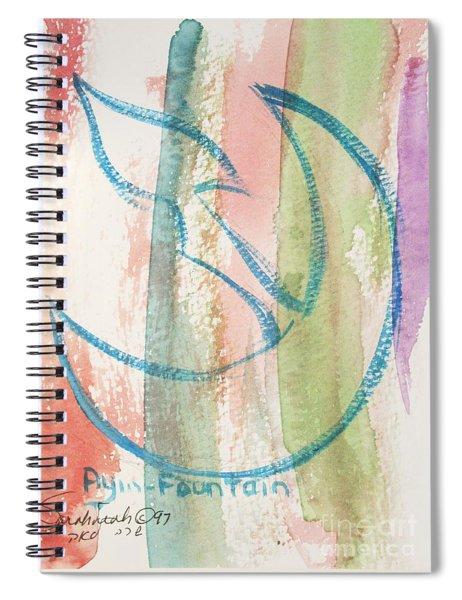 Gliding Ayin Spiral Notebook