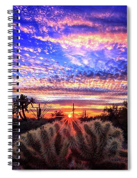 Glimmering Skies Spiral Notebook