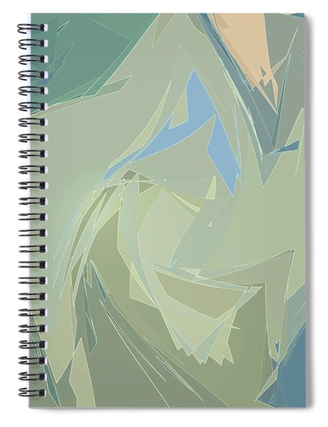 Spiral Notebook featuring the digital art Glimmers by Gina Harrison
