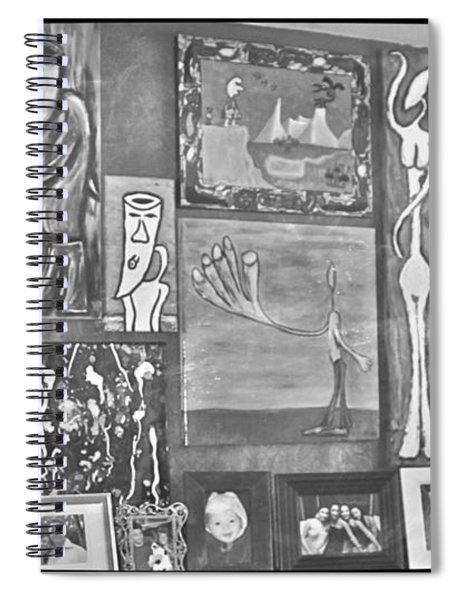 Glimpses Of Where Art Lives 4 Spiral Notebook
