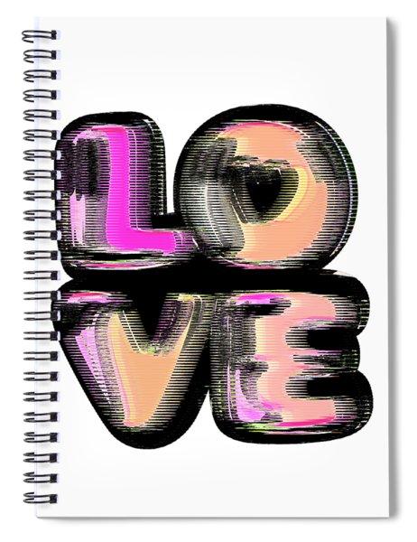 Glitch Spiral Notebook
