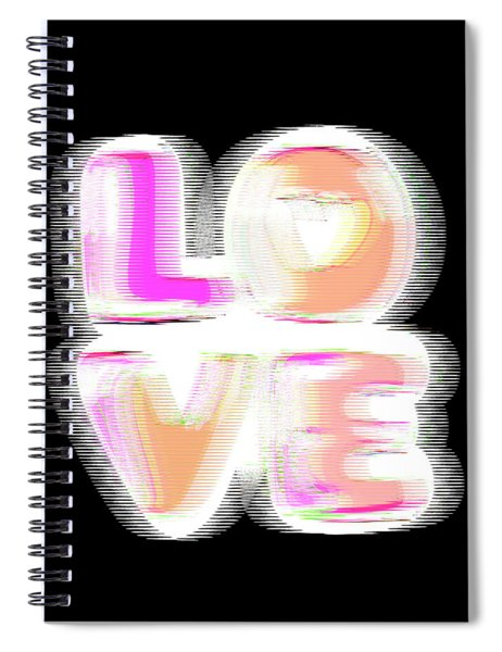 Glitch In Black Spiral Notebook