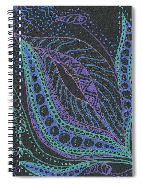 Glitter Flower Spiral Notebook