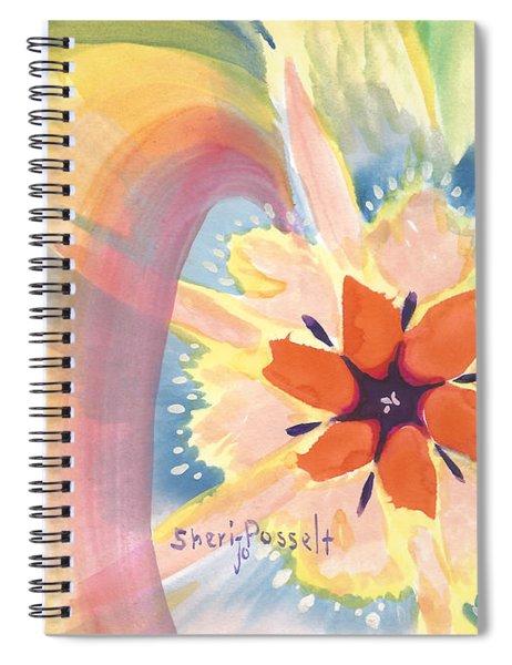 Glitter Gold Star Spiral Notebook