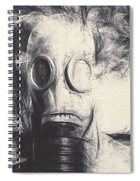 Vintage Gas Mask Terror Spiral Notebook