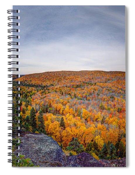 Glorious Autumn Lutsen Mountain Resort North Shore Minnesota Spiral Notebook