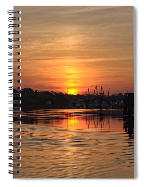 Glory Of The Morning On The Water Spiral Notebook
