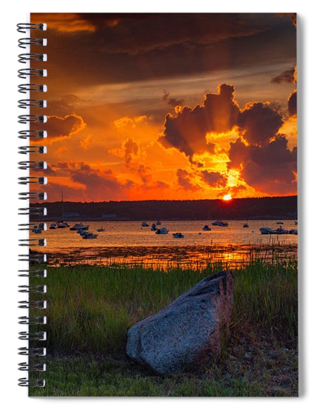 Gloucester Harbor Sunset Spiral Notebook