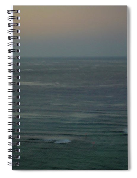 Glow And Waves - Dawn At The Beach Spiral Notebook