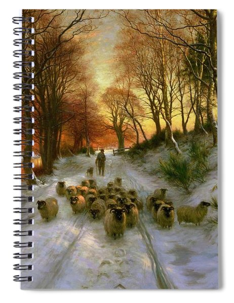 Glowed With Tints Of Evening Hours Spiral Notebook