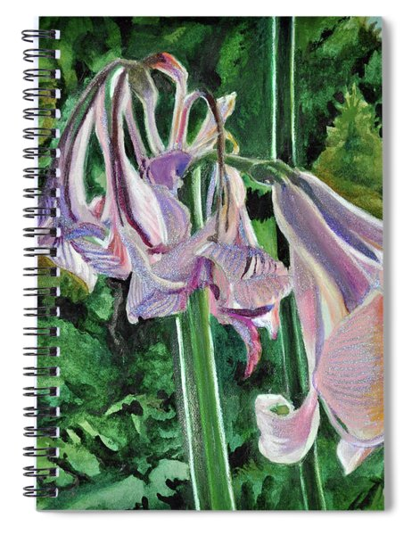 Glowing Amaryllis Spiral Notebook