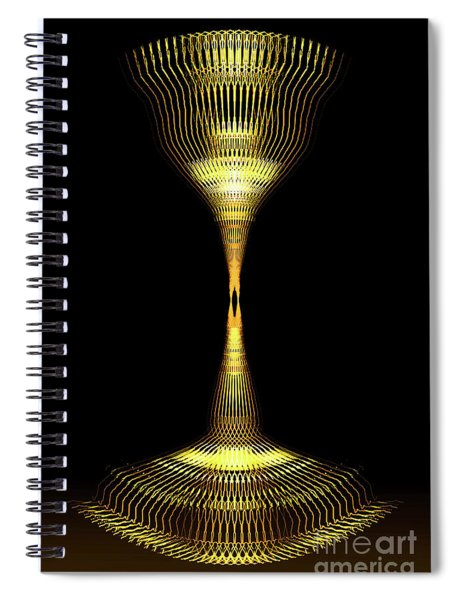Glowing Brass Lamp Stand Spiral Notebook