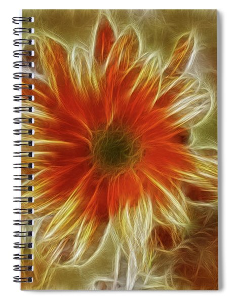 Glowing Flower Spiral Notebook