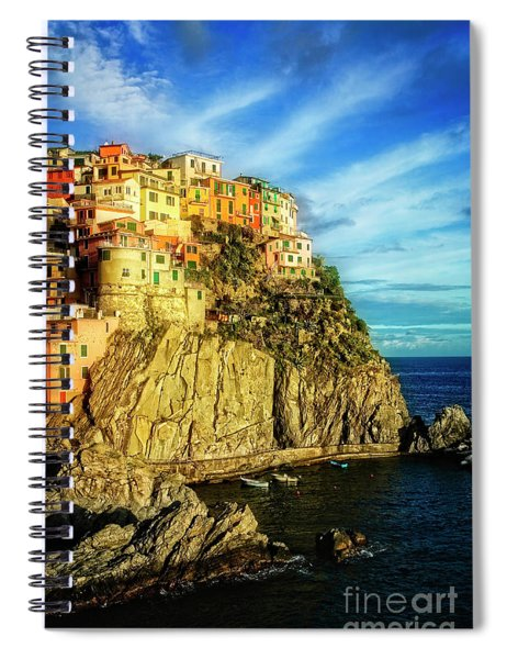 Glowing Manarola Spiral Notebook
