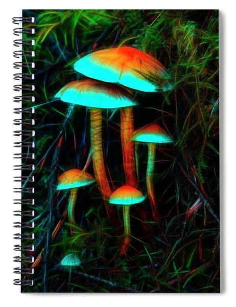 Glowing Mushrooms Spiral Notebook