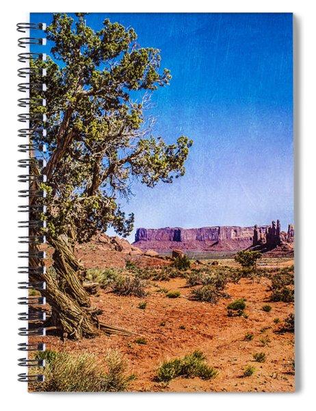 Gnarled Utah Juniper At Monument Vally Spiral Notebook