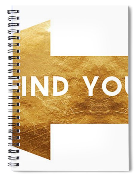 Go Find Yourself- Art By Linda Woods Spiral Notebook