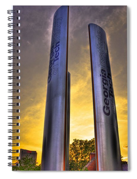 Go Tech Georgia Tech Sunset Art Spiral Notebook