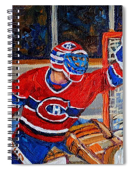 Goalie Makes The Save Stanley Cup Playoffs Spiral Notebook