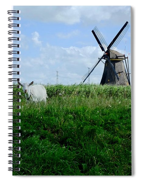 Goat And Windmill Spiral Notebook