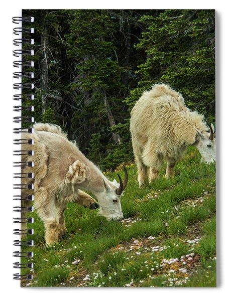 Goat Garden Spiral Notebook