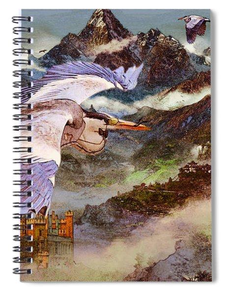 Goblin Gloaming Bird Spiral Notebook