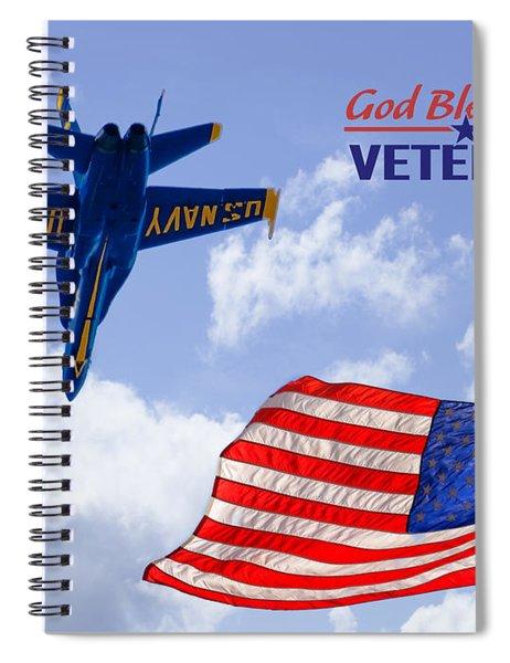 God Bless Our Veterans Spiral Notebook