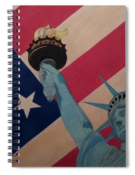 God Bless The Usa Spiral Notebook