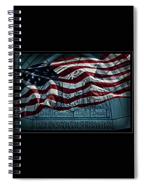 God Country Notre Dame American Flag Spiral Notebook
