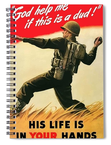 God Help Me If This Is A Dud Spiral Notebook
