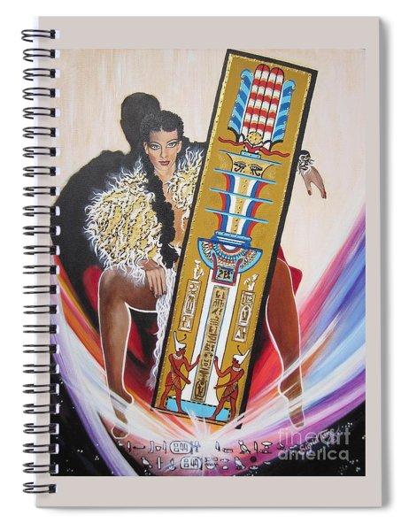 The  Tet Of Osiris Fra Blaa  Kattproduksjoner  Spiral Notebook