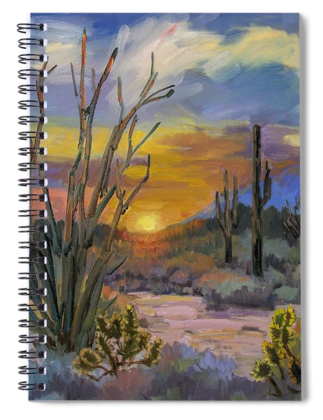 God's Day - Sonoran Desert Spiral Notebook