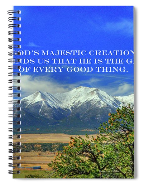 God's Majestic Creation Spiral Notebook
