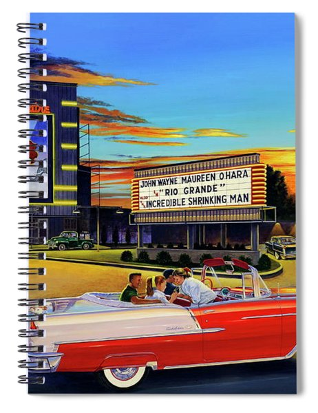 Goin' Steady - The Circle Drive-in Theatre Spiral Notebook