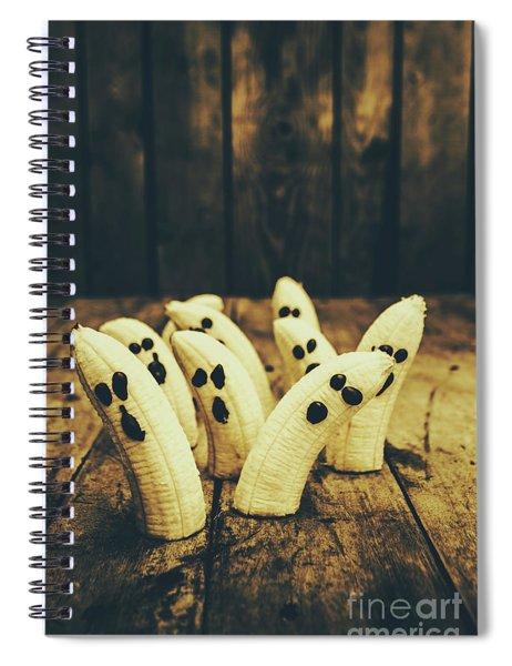 Going Bananas Over Halloween Spiral Notebook