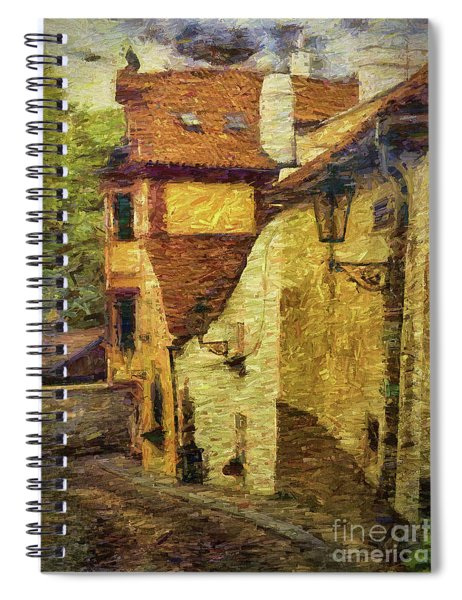 Going Downhill And Round The Bend Spiral Notebook