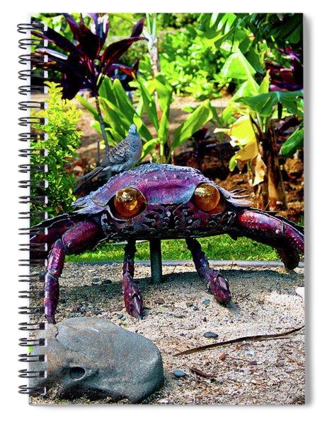 Going Piggyback On A Crab Spiral Notebook