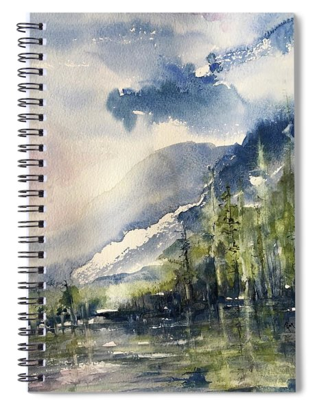 Going To The Sun Road Glacier National Park Montana Spiral Notebook