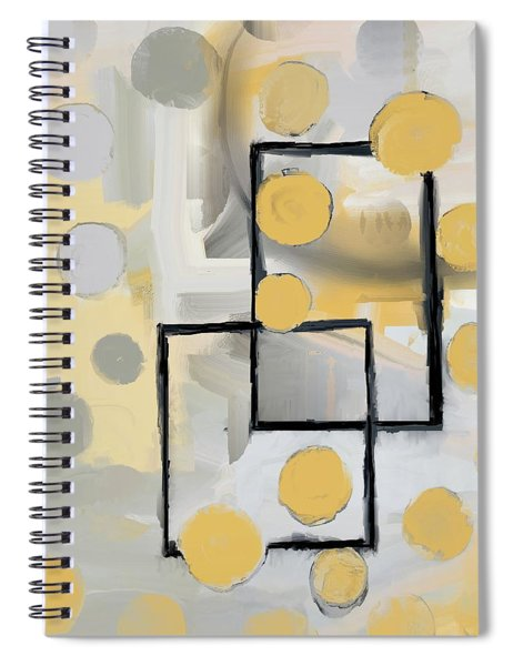 Gold And Grey Abstract Spiral Notebook