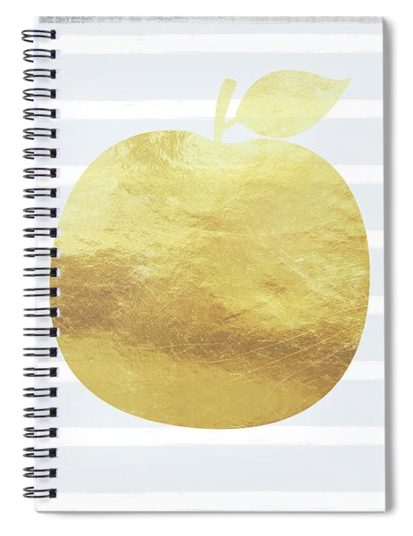 Gold Apple- Art By Linda Woods Spiral Notebook