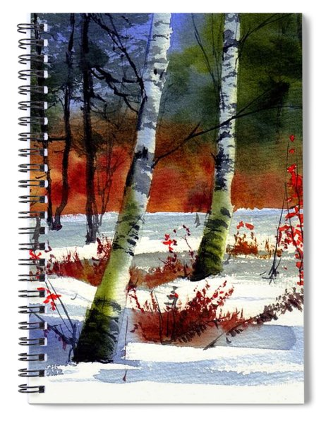 Gold Bushes Watercolor Spiral Notebook
