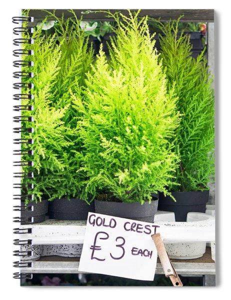 Gold Crest Plants Spiral Notebook
