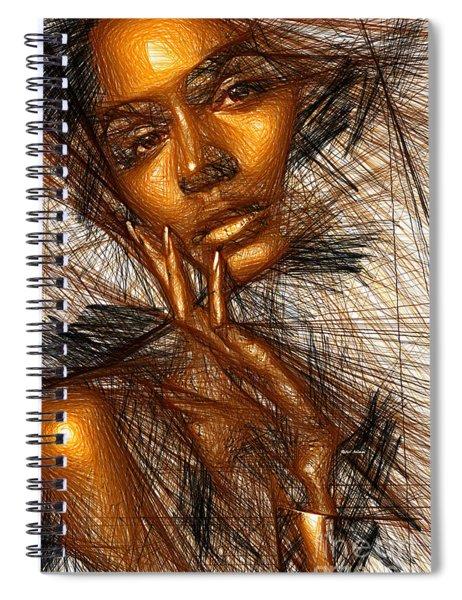 Gold Fingers Spiral Notebook