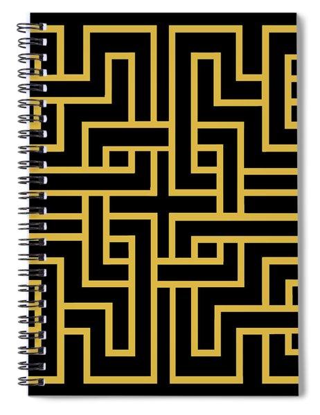 Gold Geo 6 Spiral Notebook