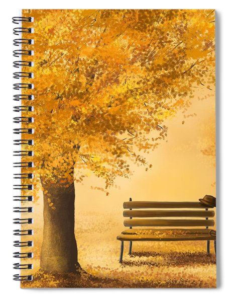 Gold Memories Spiral Notebook